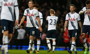 Tottenham Hotspur's players react to their 1-0 defeat at West Ham United