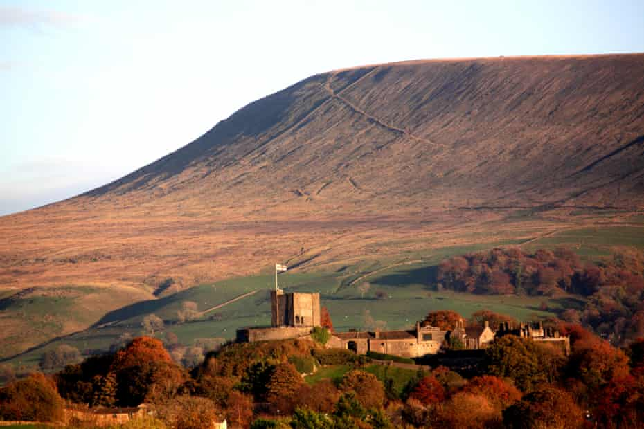 Clitheroe Castle, under the brow of Pendle Hill.