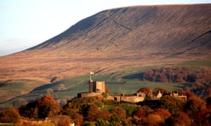 Pendle Hill and Clitheroe Castle.