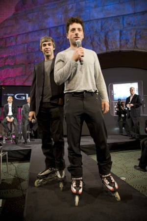 Larry Page (left) and Sergey Brin, the co-founders of Google.