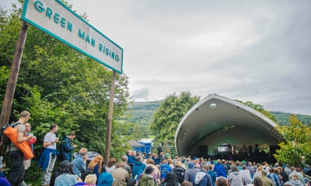 A crowd at the Green Man festival in Wales in 2017