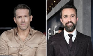 Actors Ryan Reynolds and Rob McElhenney, Wrexham's new owners.