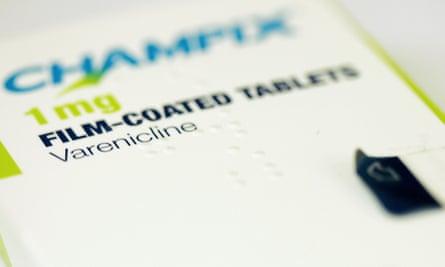 Packet of anti-smoking drug Varenicline tablets