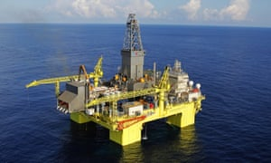 An offshore oil platform in China.