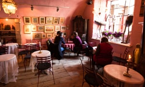 The interior of Camelot, a well-known cafe in Krakow