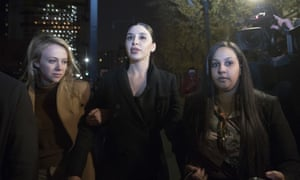 Emma Coronel leaves Brooklyn federal court after opening arguments in the trial of the Mexican drug lord Joaquín 'El Chapo' Guzmán, 13 November 2018.