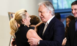 Kate Winslet and Alan Rickman at the premiere of A Little Chaos in New York, June 2015.