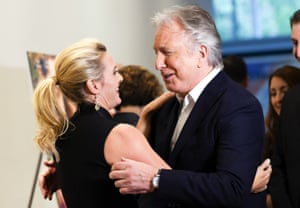 Kate Winslet and Alan Rickman at the premiere of A Little Chaos in 2015. Rickman directed and starred in the comedy which had Winslet as a landscape gardener.
