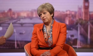 Prime minister Theresa May appearing on BBC1's Andrew Marr Show.