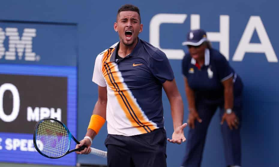 Nick Kyrgios was at the centre of attention once again in New York on Thursday