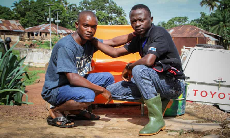Sierra Leone burial workers Mohamed Conte and Augustine Lansana have both suffered disturbing flashbacks from their work.