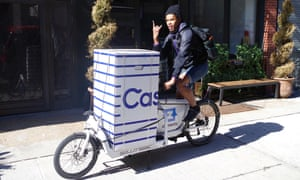 Some Casper deliveries are made by cargo bike in the US