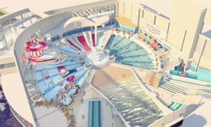 Plans for the new pool at Butlin's Bognor Regis.