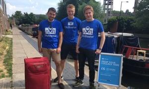CityStasher founding team (left to right): Anthony Collias, Jacob Wedderburn-Day, Matt Majewski
