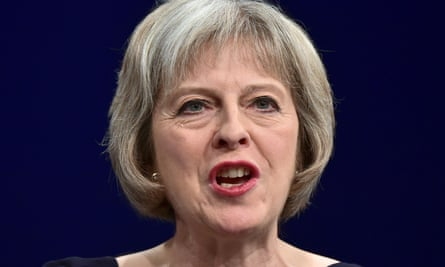 Theresa May as home secretary in 2015: government lawyers have said her proposed bill fails to provide a legally acceptable definition of extremism.