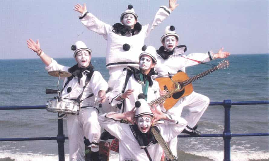 Knights in white satin … the Pierrotters in Filey, Yorkshire.