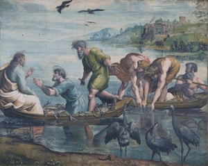 Raphael cartoon, The Miraculous Draught of Fishes.