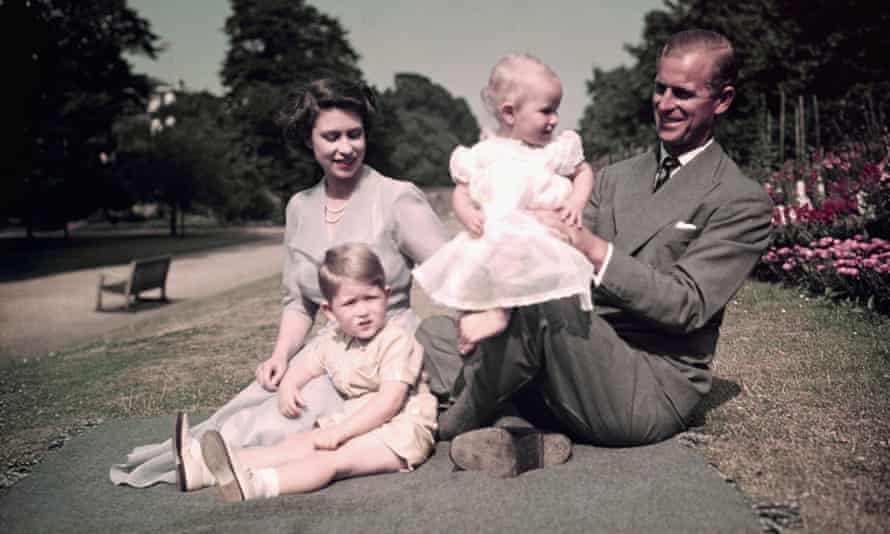 Family man: a picnic with Charles and Anne at Balmoral in the 1950s.
