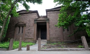 """Yale's secret society, Skull and Bones' clubhouse or """"tomb"""" as it is known."""