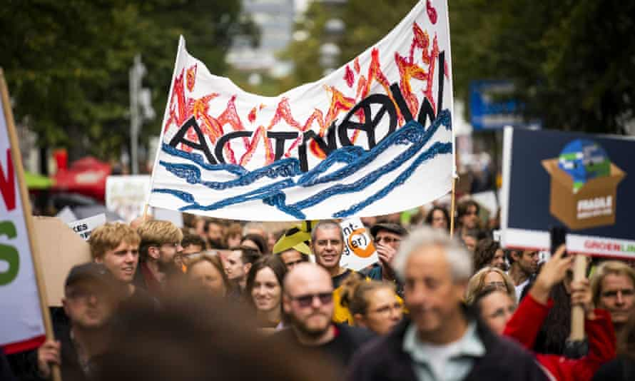 A climate march at The Hague, the Netherlands, on 27 September 2019.