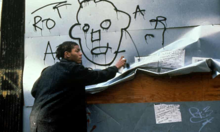 Basquiat on the set of Downtown 81