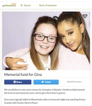 Georgina Callander with Ariana Grande