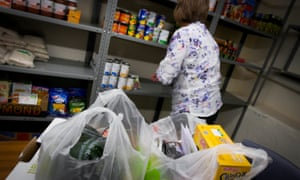 The New Hope Church Food Bank, South Shields. 'One in 12 parents aged between 18 and 30 say they have to use a food bank to survive.'