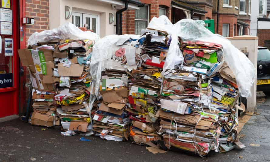Stacks of recycling