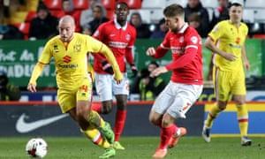 Carruthers in action for MK Dons.