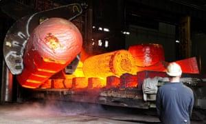 a steel rolling mill's furnace