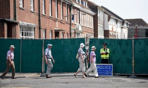 The police cordon around the Salisbury hostel home of Dawn Sturgess, who, with partner Charlie Rowley, somehow came into contact with novichok.