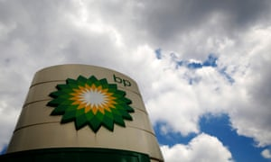 Signage for a BP petrol station