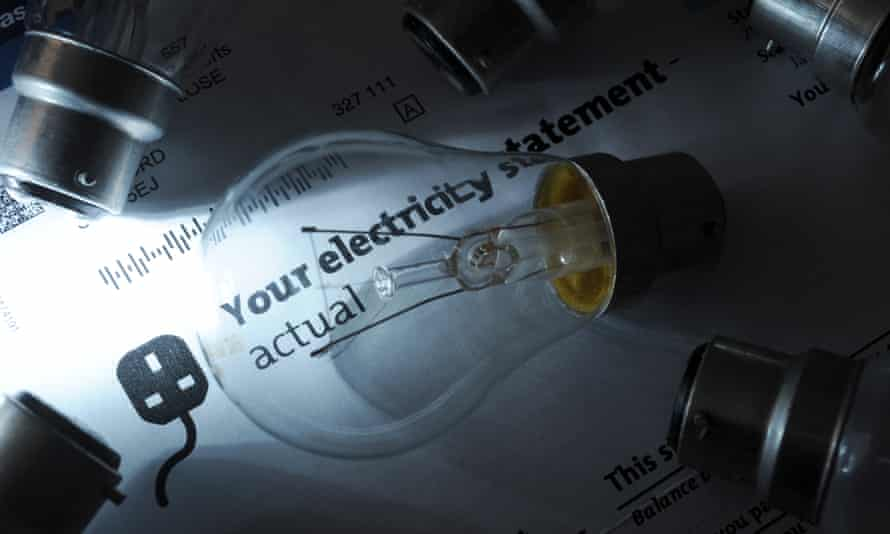 Electricity bill and light bulb