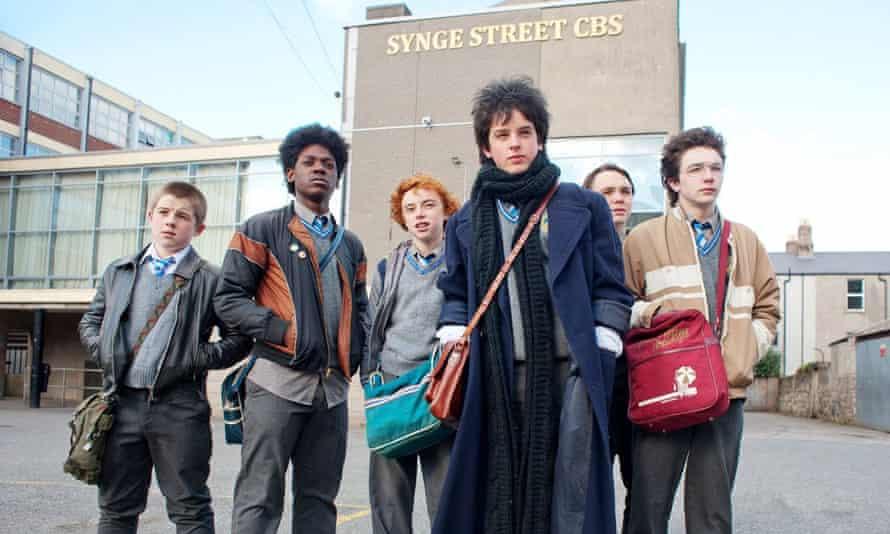 'Uplifting fairytale': (l-r) Kyle Bradley Donaldson, Percy Chamburuka, Ben Carolan, Ferdia Walsh-Peelo, Conor Hamilton and Mark McKenna in Sing Street