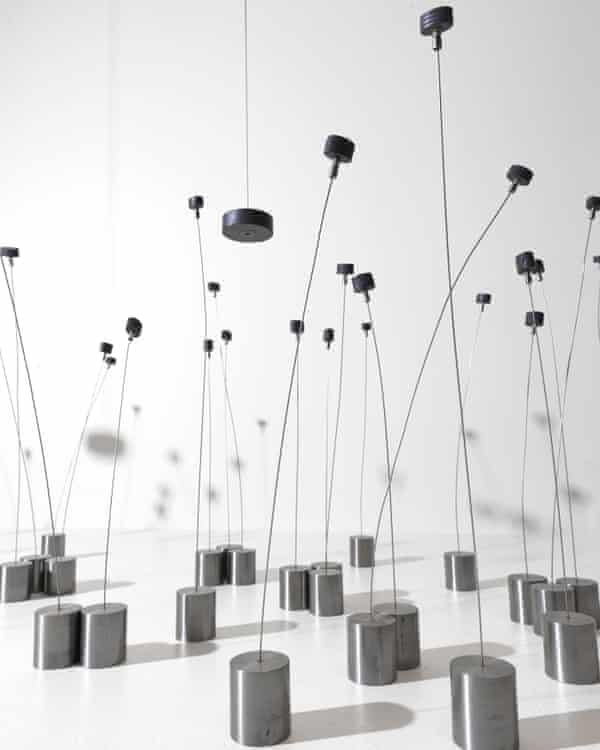 The 1969 Magnetic Field installation at Tate Modern, London, as part of an exhibition of Takis's work.