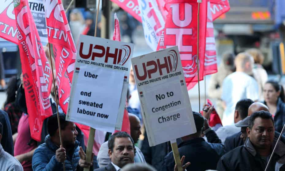 Uber driver strike, London, 9 October