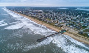 The Outer Banks are seen the morning after Hurricane Dorian struck Kill Devil Hills, North Carolina, in September.