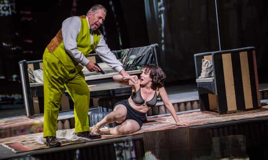 James Morris (Dr Schon) and Brenda Rae (Lulu) in Lulu at London Coliseum
