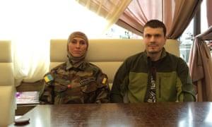 Amina Okuyeva, who was killed in an ambush in Kyiv, Ukraine in 2017 with her husband Adam Osmayev