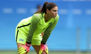 Hope Solo during the 2016 Olympic loss to Sweden