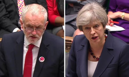 Corbyn and May in the Commons.