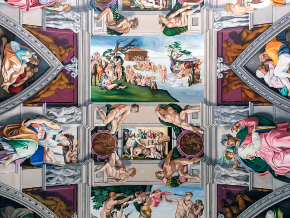 Reproduction of the Sistine Chapel ceiling at the Church of the English Martyrs in Goring-by-Sea.