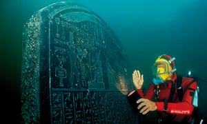 A stele from Thonis-Heracleion, Aboukir Bay, Egypt.