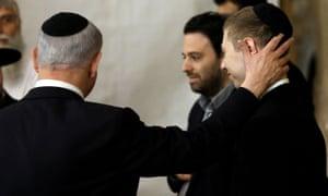 In 2015 Netanyahu his son Yair visit the Wailing Wall in Jerusalem