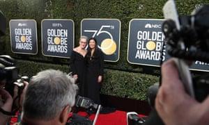 Meryl Streep was accompanied by Ai-jen Poo.