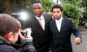 Pennant, with his agent Sky Andrew, at Aylesbury magistrates court to be sentenced on charges of drink-driving in 2005. Pennant was jailed for three months.