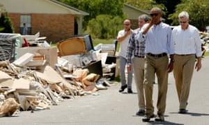 barack obama louisiana flood