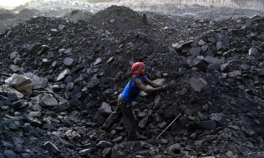 An Indian worker at a coal mine