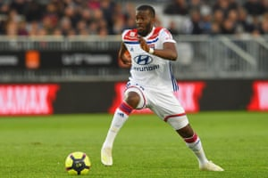 Tanguy Ndombele, in action for Lyon, has been told he can become world-class at Spurs.