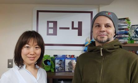 Dub masters … language experts Hiroko Minamoto (left) and John Ricciardi in the 8-4 office in Shibuya, Tokyo.